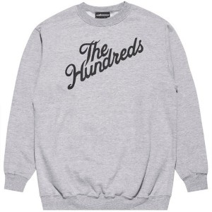 THE HUNDREDS / FOREVER SLANT CREWNECK SWEAT (ATHLETIC HEATHER)