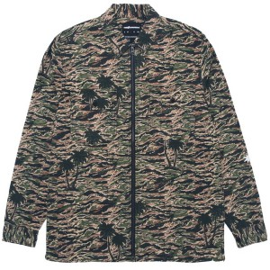 THE HUNDREDS / GUERRERO ZIP-UP SHIRT (CAMO)