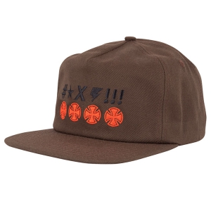INDEPENDENT / ANTE CROSSESS SNAPBACK CAP (BROWN)