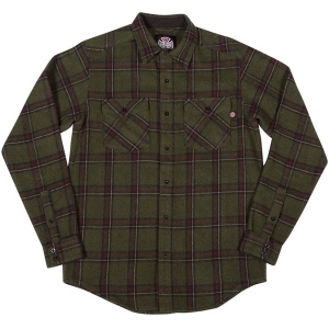 INDEPENDENT / CHAINSAW L/S BUTTON UP SHIRT (OLIVE PLAID)