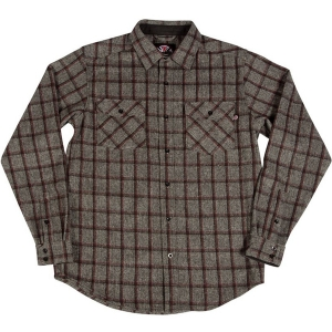 INDEPENDENT / CHAINSAW L/S BUTTON UP SHIRT (GREY PLAID)
