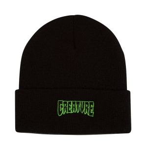 CREATURE / LOGO OUTLINE BEANIE (BLACK)