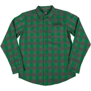 CREATURE / OUTLINE L/S FLANNEL SHIRT (CHARCOAL/GREEN)