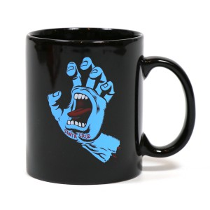 SANTA CRUZ / SCREAMING HAND MUG (BLACK)