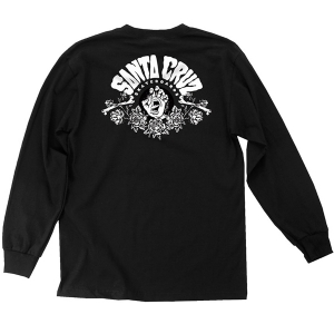 SANTA CRUZ / SCREAMING ARRANGEMENT L/S TEE (BLACK)