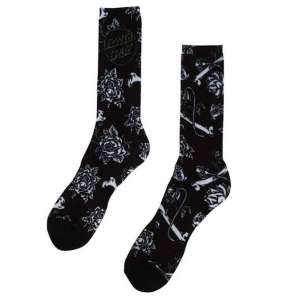 SANTA CRUZ / FLORAL DECAY SOCKS (BLACK)