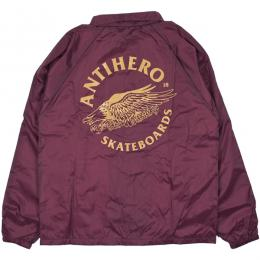 ANTIHERO / ANTIEAGLE COACHES JACKET (MAROON)