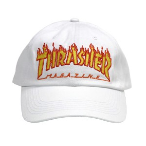 THRASHER / FLAME OLD TIMER CAP (WHITE)