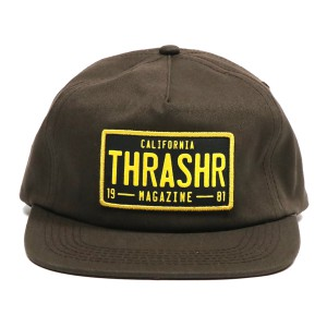 THRASHER / DMV SNAPBACK CAP (BROWN)