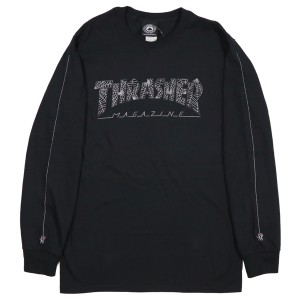 THRASHER / WEB L/S TEE (BLACK)