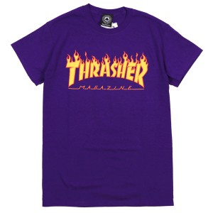 THRASHER / FLAME TEE (PURPLE)