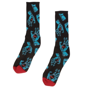 SANTA CRUZ / HANDS ALLOVER SOCKS (BLACK)