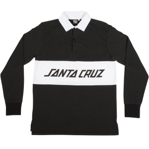 SANTA CRUZ / STRIKER L/S RUGBY SHIRT (BLACK)