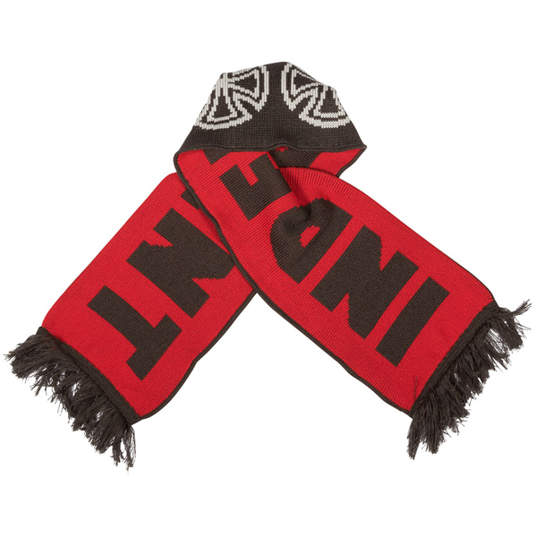 INDEPENDENT / WOVEN CROSSES SCARF (BLACK/RED)