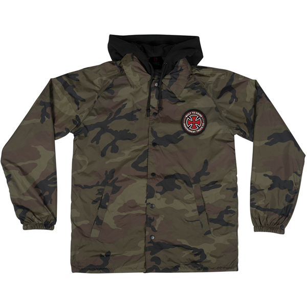INDEPENDENT / BTGC PATCH HOODED COACHES JACKET (CAMO)