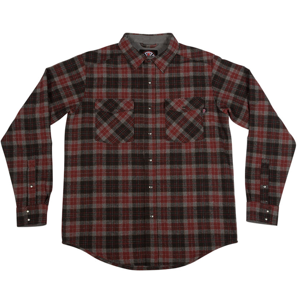 INDEPENDENT / MILL L/S BUTTON UP SHIRT (BURGUNDY)