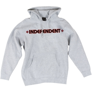 INDEPENDENT / BAR/CROSS PULLOVER HOODIE (GREY HEATHER)