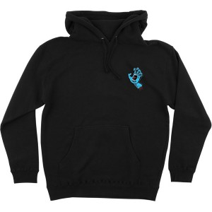 SANTA CRUZ / SCREAMING MINI HAND PULLOVER HOODIE (BLACK)