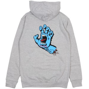 SANTA CRUZ / SCREAMING HAND PULLOVER HOODIE (GREY HEATHER)