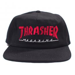 THRASHER / MAGAZINE LOGO TWO-TONE HAT (BLACK/RED)