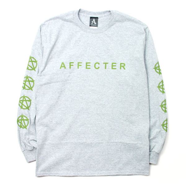 AFFECTER / CLASSIC BEFORE L/S TEE (H.GREY)