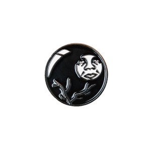 OBEY / OBEY 8 BALL ICON PIN (BLACK MULTI)