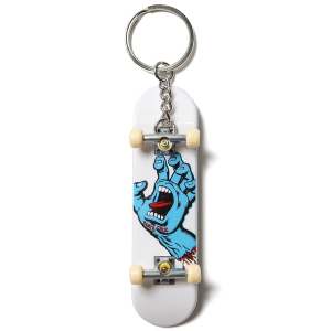 SANTA CRUZ / SCREAMING HAND KEYCHAIN FINGER BOARD (WHITE)