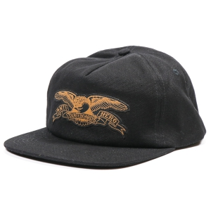 ANTIHERO /  BASIC EAGLE PATCH SNAPBACK CAP (BLACK/BROWN)