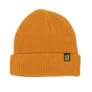 ANTIHERO / BLACKHERO CLIP LABEL CUFF BEANIE (GOLD/YELLOW)