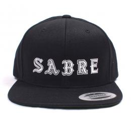 SABRE / BASEBALL LOGO SNAP BACK CAP (BLACK)