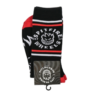 SPITFIRE / CLASSIC BIGHEAD SOCKS (BLACK/RED/WHITE)
