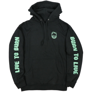 SPITFIRE / LIVE TO BURN GLOW PULLOVER HOODIE (BLACK)