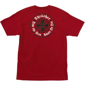 INDEPENDENT X THRASHER / OATH TEE (CARDINAL RED)