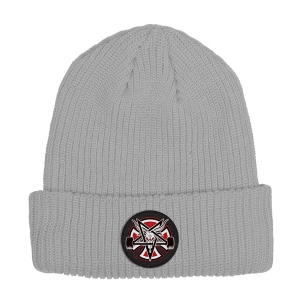 INDEPENDENT X THRASHER / PENTAGRAM CROSS BEANIE (H.GREY)