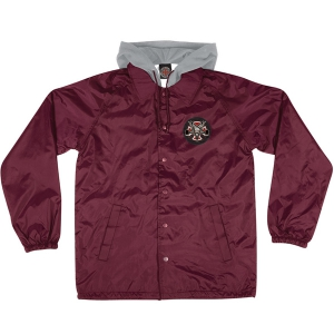 INDEPENDENT X THRASHER / PENTAGRAM CROSS HOODED COACHES JACKET (GARNET)