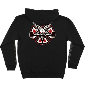 INDEPENDENT X THRASHER / PENTAGRAM CROSS PULLOVER HOODIE (BLACK)