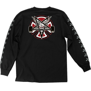 INDEPENDENT X THRASHER / PENTAGRAM CROSS L/S TEE (BLACK)