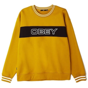 OBEY / STAND CREWNECK SWEAT (GOLDEN PALM)