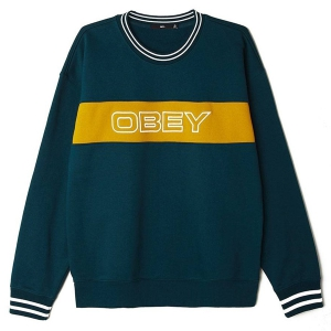 OBEY / STAND CREWNECK SWEAT (DEEP TEAL)