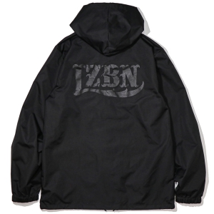 LZBN / LZBN BACK LOGO HOODED COACHES JACKET (ALL BLACK)