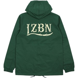 LZBN / BONES LOGO HOODED COACH JACKET (FOREST GREEN)