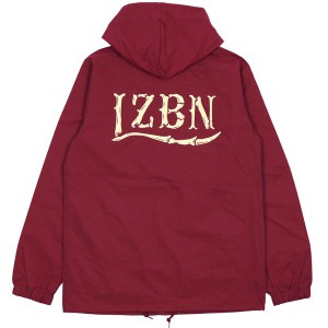 LZBN / BONES LOGO HOODED COACH JACKET (CARDINAL)
