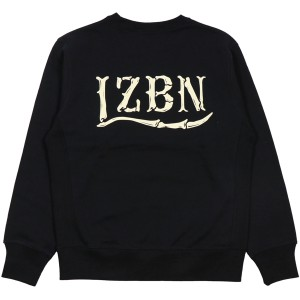 LZBN / BONES LOGO CREWNECK SWEAT (BLACK)